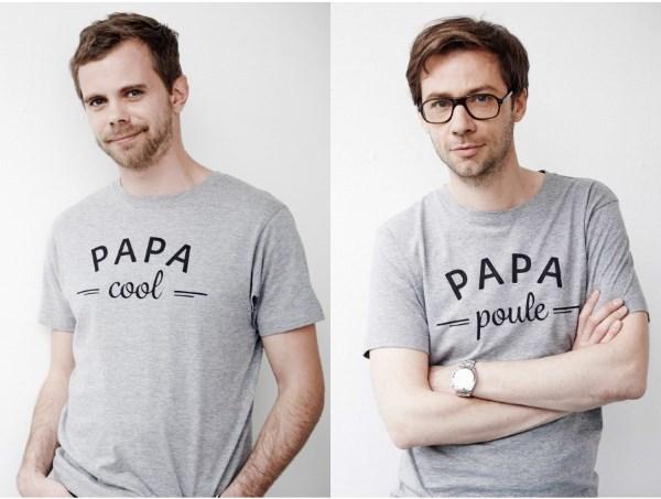 tshirt papa cool poule