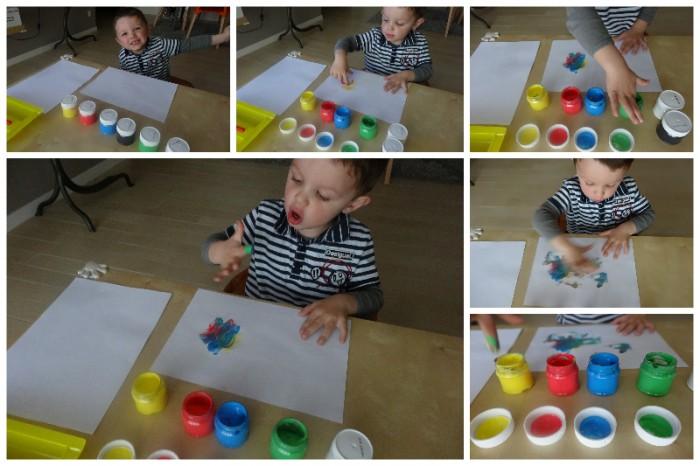 Peindre avec les doigts